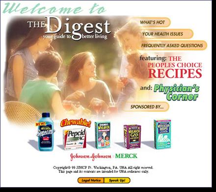 The Digest, Johnson & Johnson Merck home page